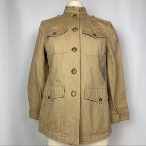 Lauren Ralph Lauren Tan Military Jacket, Sz 10P